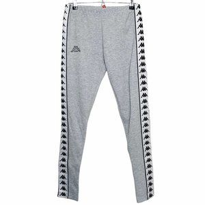 Kappa NWT Grey White Track Pants Joggers Size XS